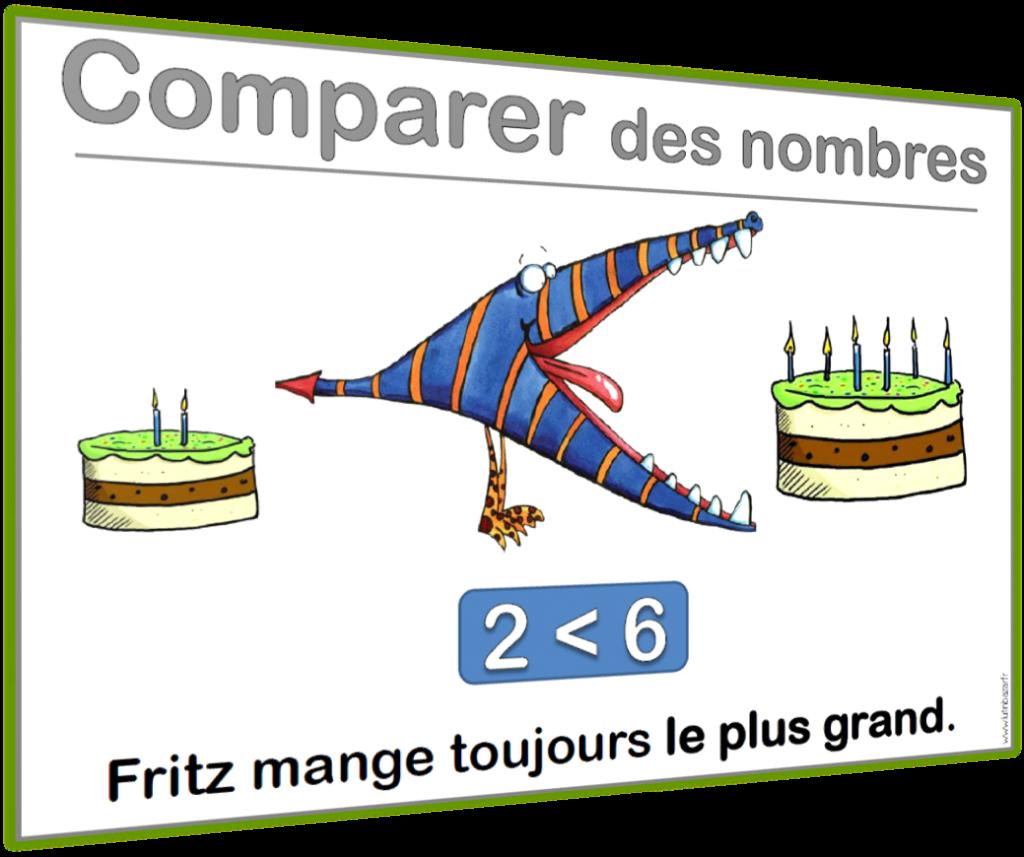 affichage comparer des nombres
