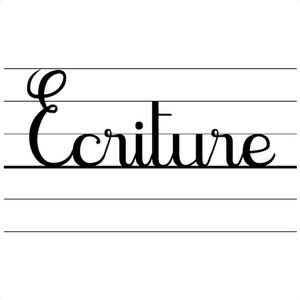 police cursive interligne