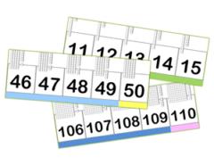 frise des nombres à colorier