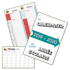 Calendrier 2021 2022 Ce1 Les calendriers 2019 2020 : faits !   Lutin Bazar