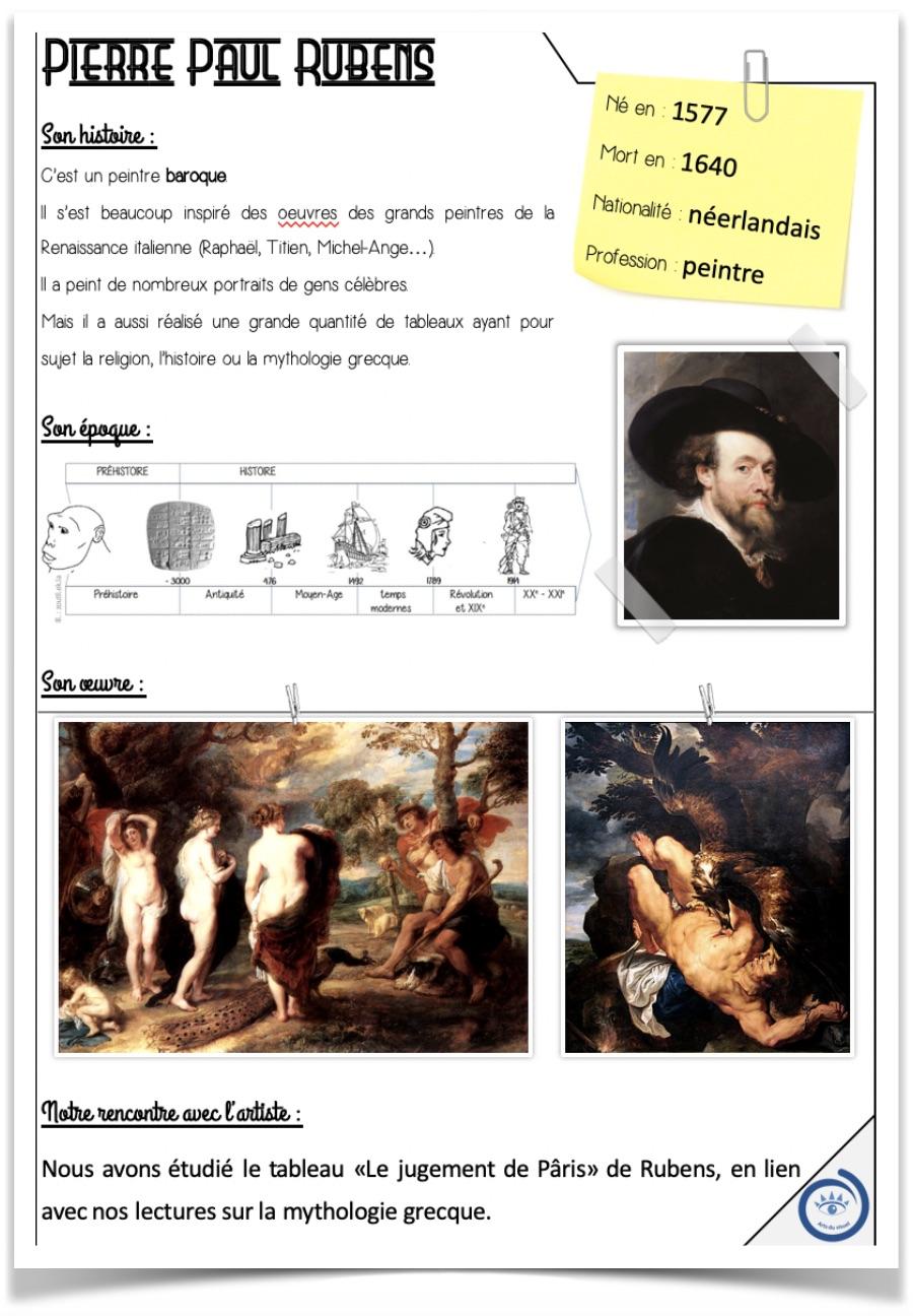 Rubens fiche artiste