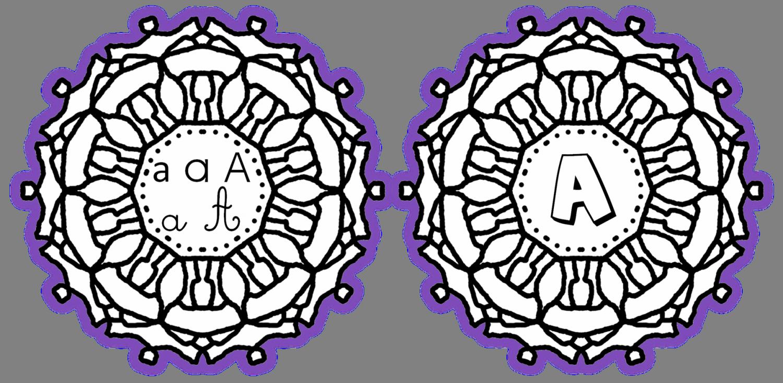 mandalas de l'alphabet