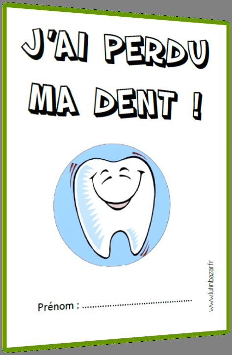 j'ai perdu ma dent - petit livre