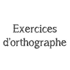Exercices D Orthographe Ce2 Lutin Bazar