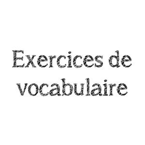 Exercices De Vocabulaire Ce2 Lutin Bazar