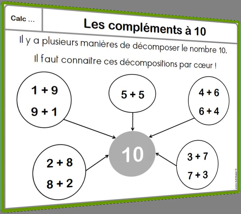 compléments à 10 leçon