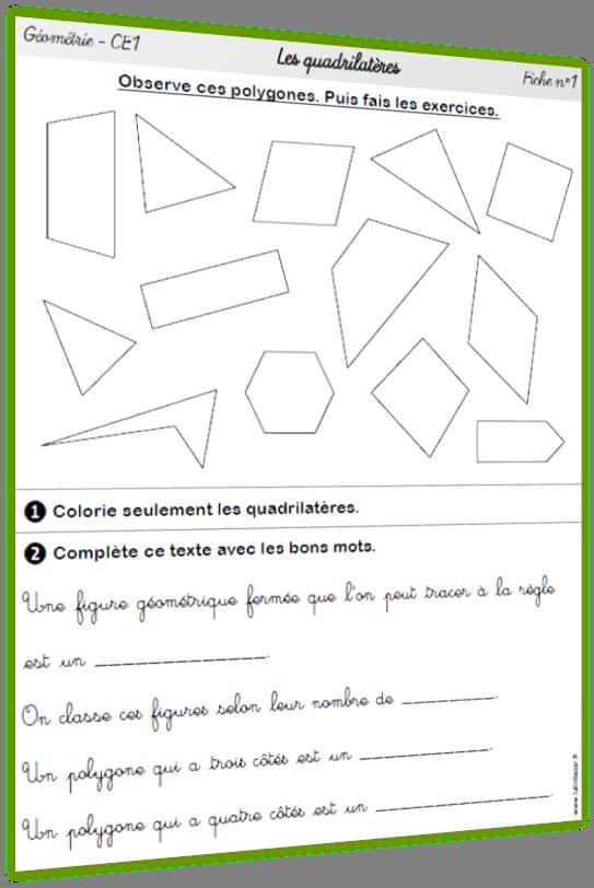 quadrilatères CE1