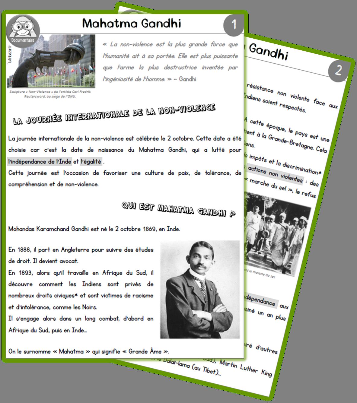 gandhi documentaire
