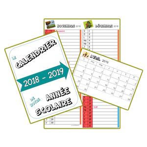 calendrier 2018 2019