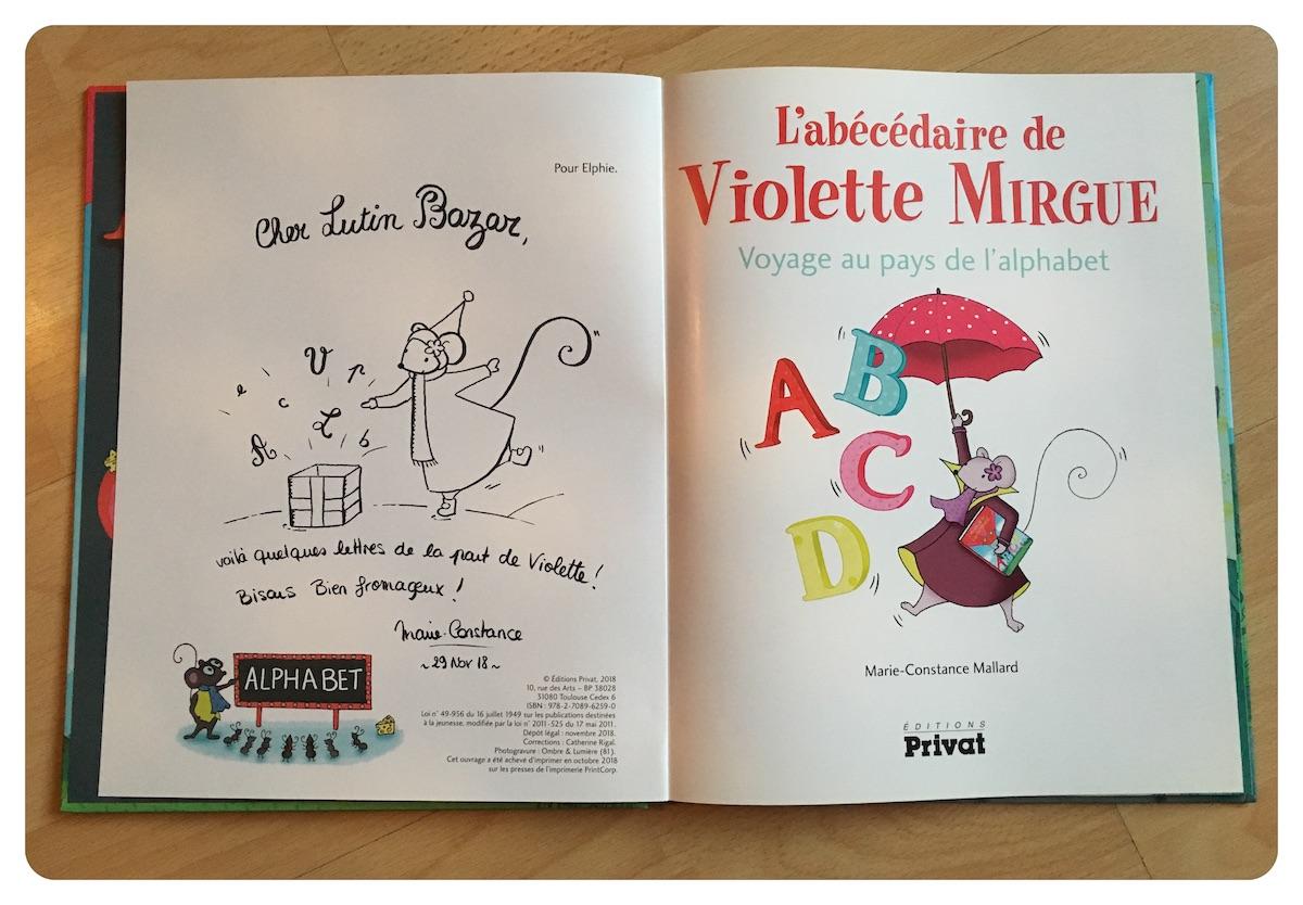 abécédaire Violette Mirgue