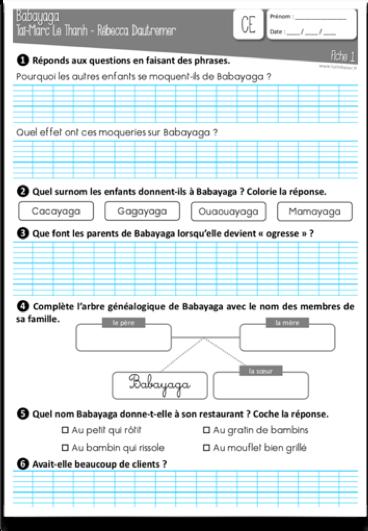 babayaga fichier CE1 CE2