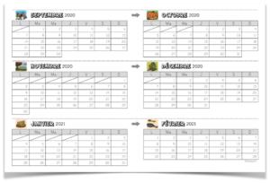 calendrier élève