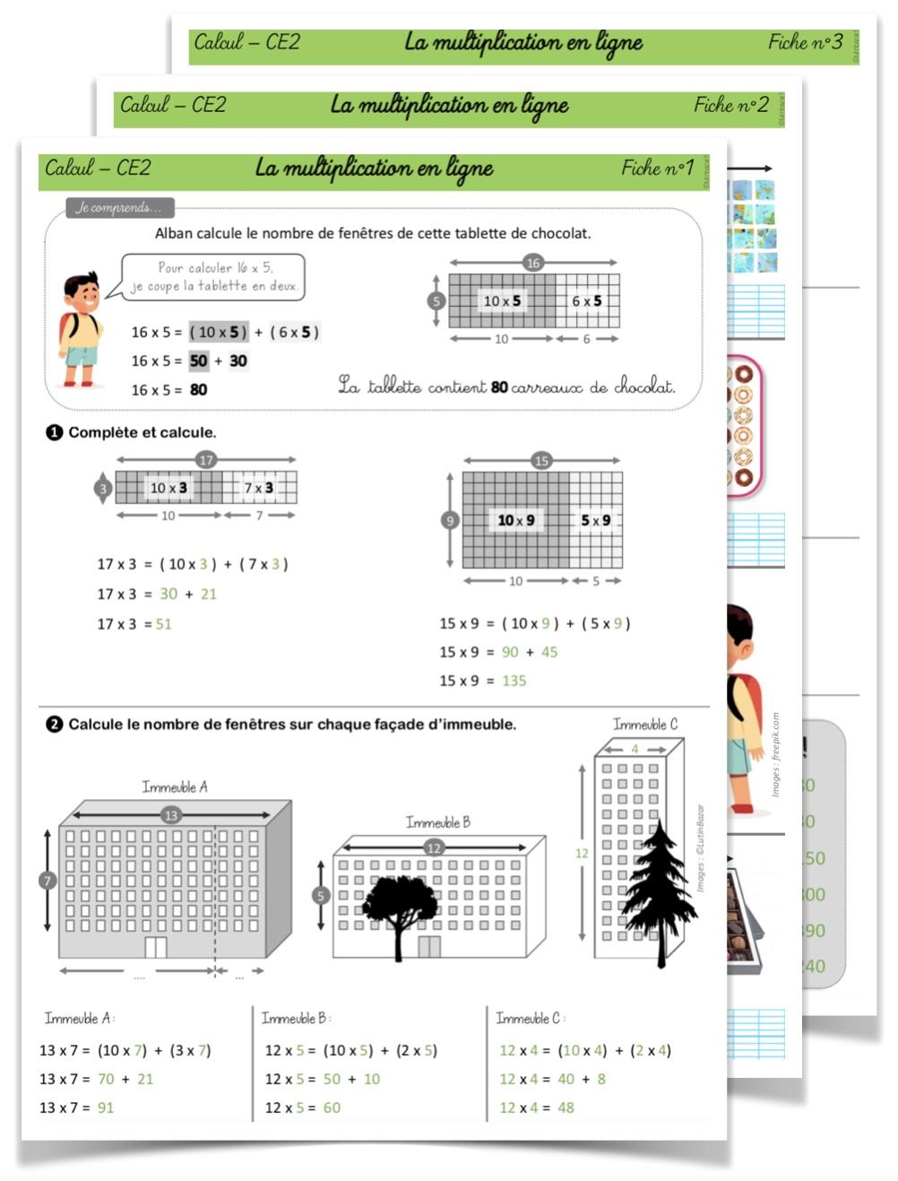 Parcours multiplication CE2 corrigé