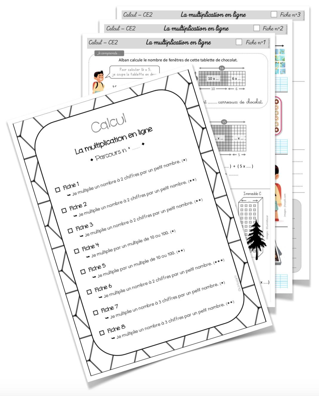 Parcours multiplication CE2